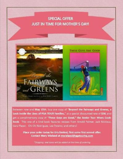 PTWA Website Offer Mothers Day- Beyond the Fairways and Greens
