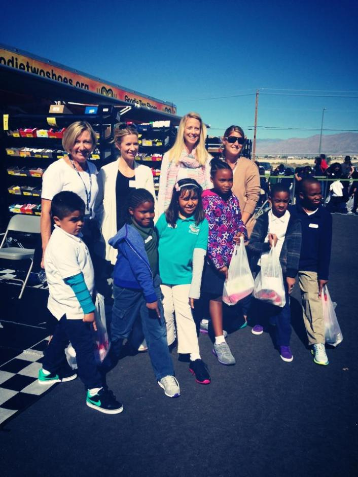 Ruby DeLaet, Meagan Laird, Stacy Hoffman and new friends with new shoes!