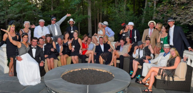 Murder mystery party held by the PGA TOUR Wives Association for charity during the The Barclays, Paramus, NJ, August 19, 2014. (Photo by Stan Badz/PGA TOUR) *** Local Caption *** Jason Day